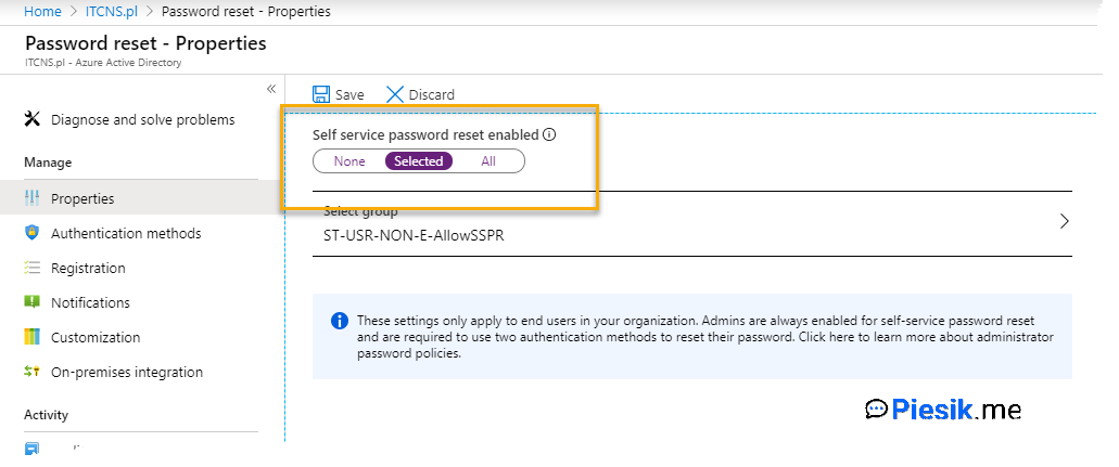 """[PL] Azure AD Self-Service Password Reset"""