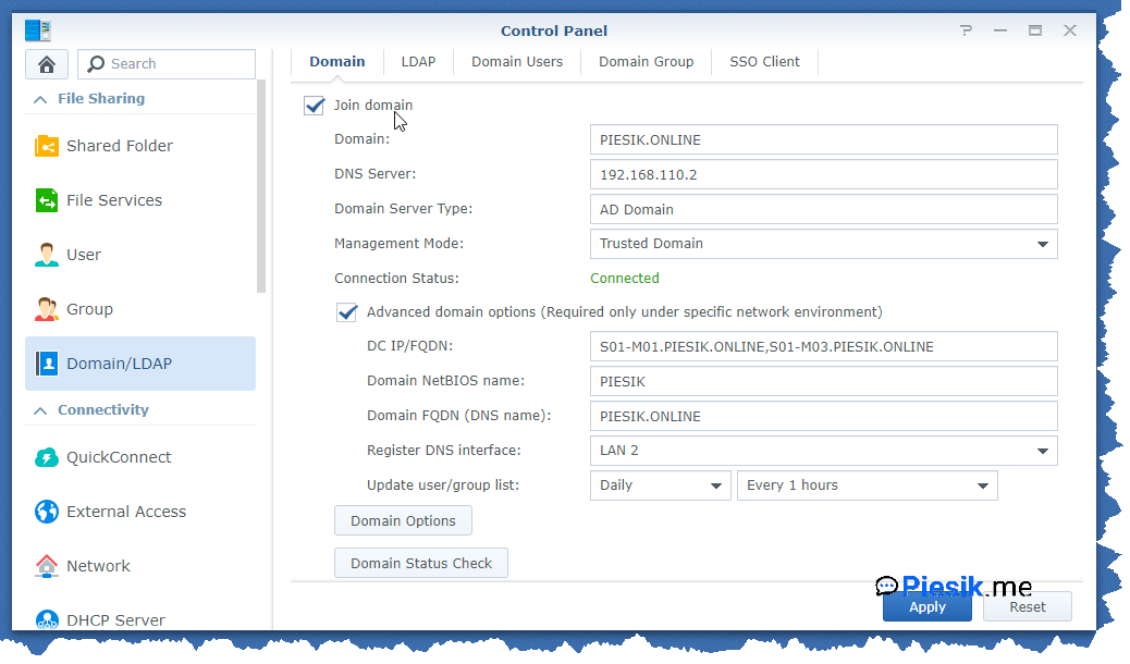 """[PL] Dodajemy NASa Synology do Active Directory"""
