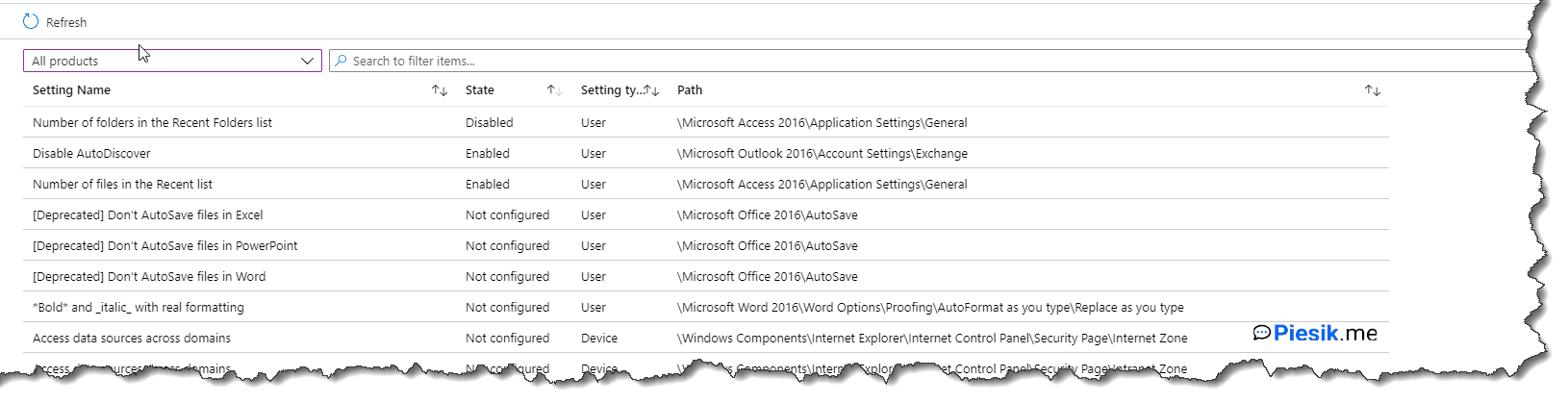 """Intune: Administrative templates"""