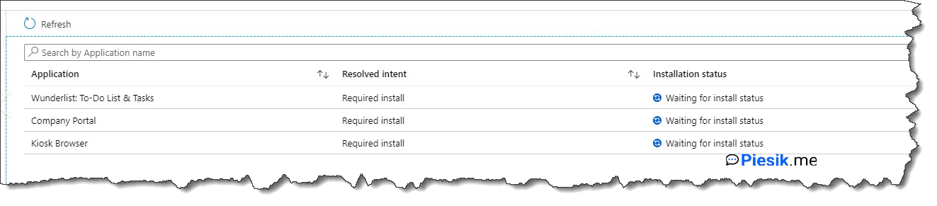 Intune: Waiting for install status