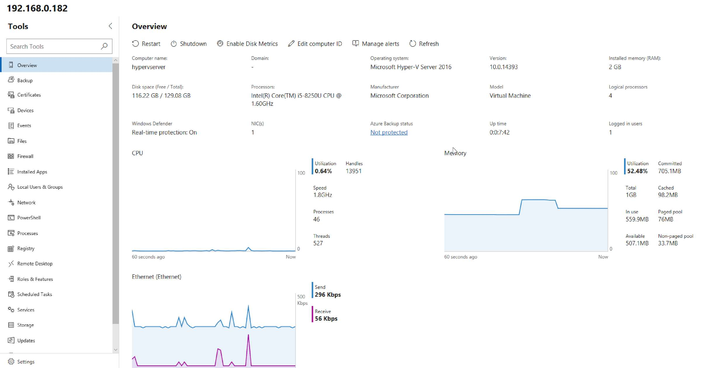 Instalacja Windows Admin Center na Windows Server Core